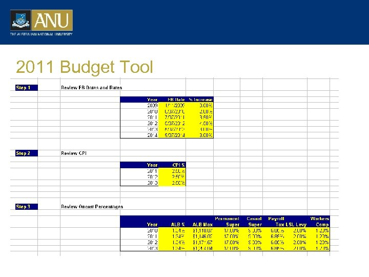 2011 Budget Tool