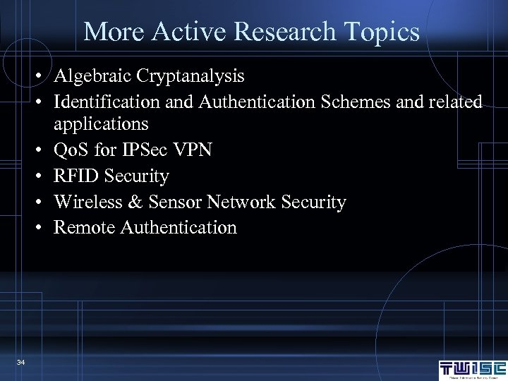 information security research topics