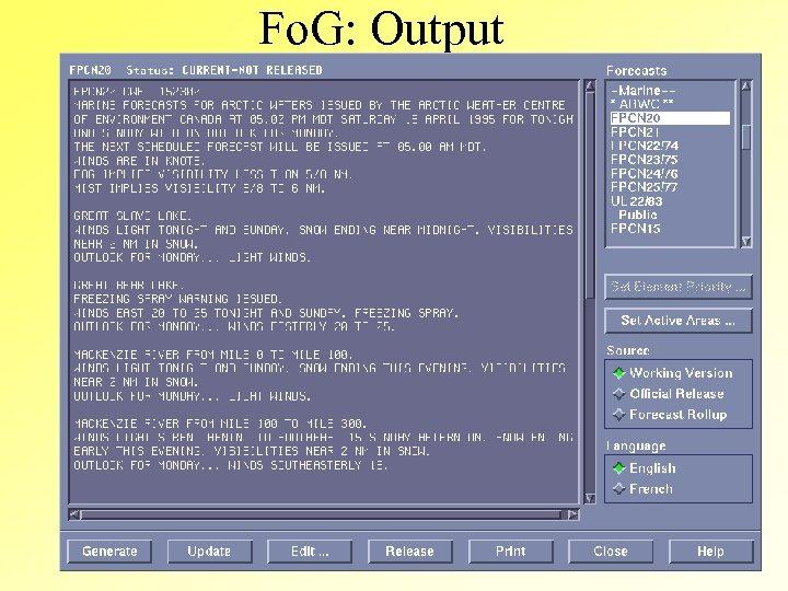 Fo. G: Output