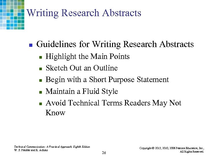 Writing Research Abstracts n Guidelines for Writing Research Abstracts n n n Highlight the