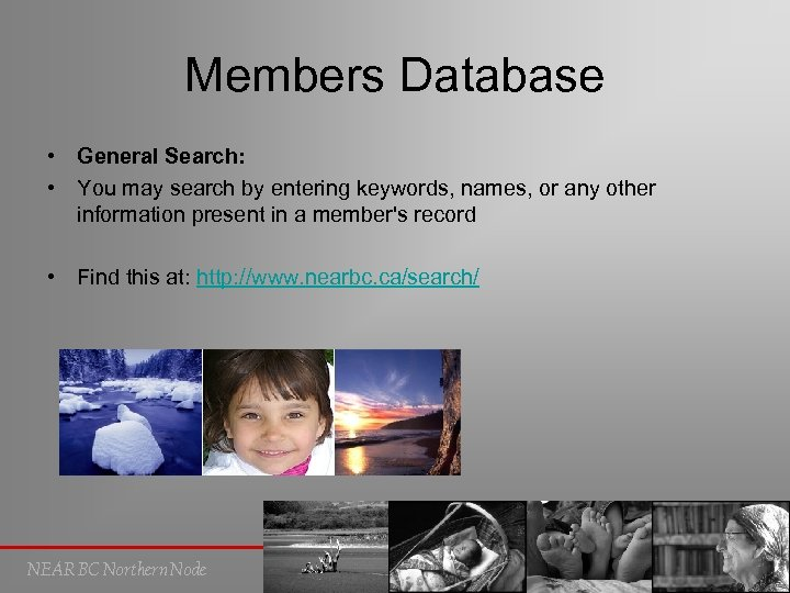 Members Database • General Search: • You may search by entering keywords, names, or