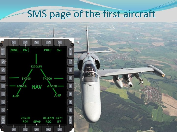 SMS page of the first aircraft