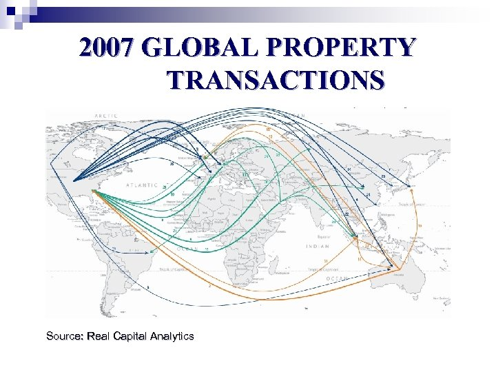 2007 GLOBAL PROPERTY TRANSACTIONS Source: Real Capital Analytics