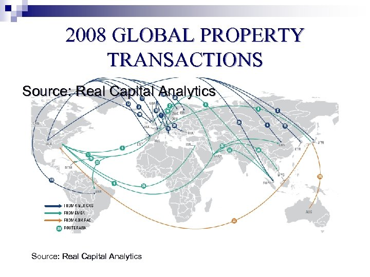 2008 GLOBAL PROPERTY TRANSACTIONS Source: Real Capital Analytics
