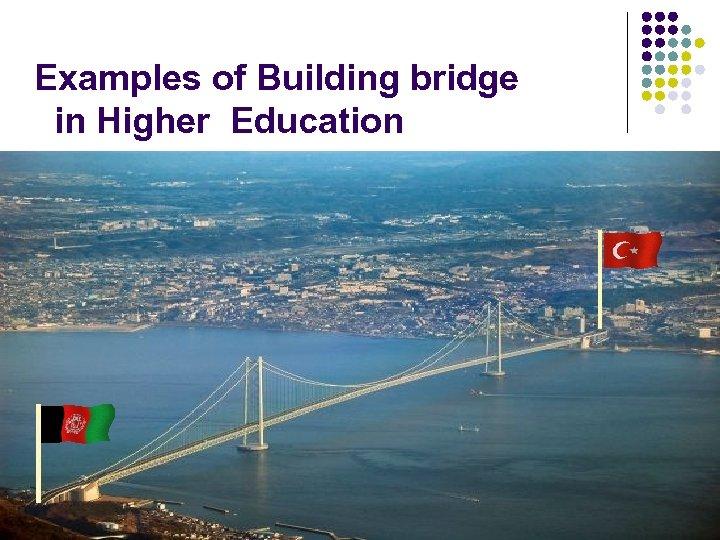 Examples of Building bridge in Higher Education