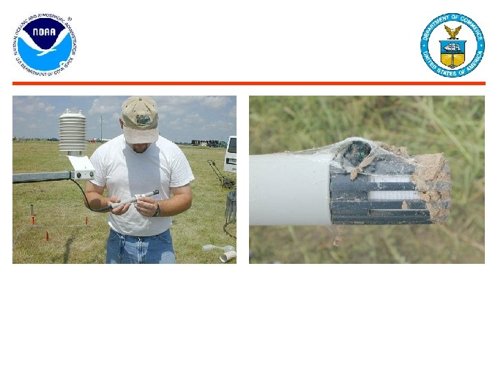 Site Maintenance Passes Sensor Inspection Air Temperature and Humidity sensors are inspected for dust