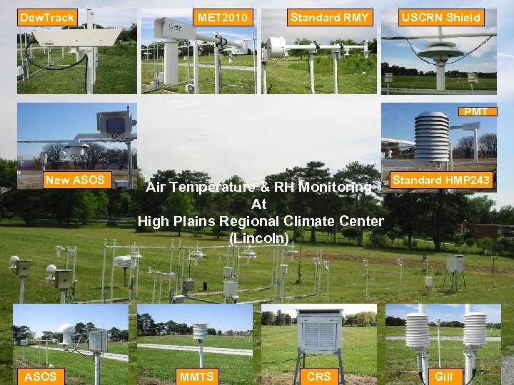 Dew. Track MET 2010 Standard RMY USCRN Shield PMT New ASOS Air Temperature &