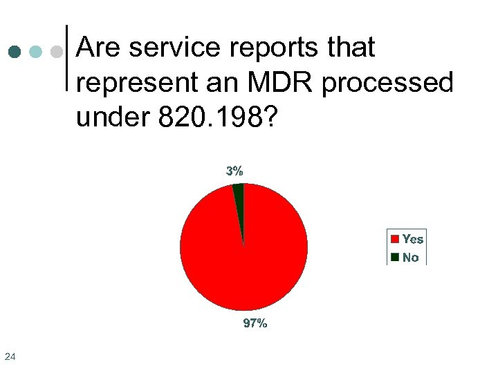 Are service reports that represent an MDR processed under 820. 198? 24