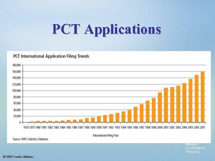 PCT Applications © 2009 Yumiko Hamano