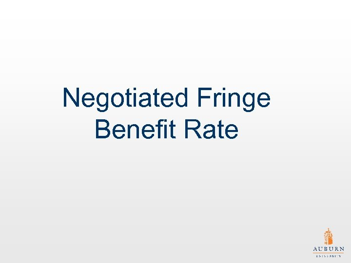 Negotiated Fringe Benefit Rate