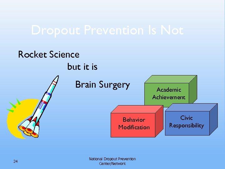 Dropout Prevention Is Not Rocket Science but it is Brain Surgery Behavior Modification 24