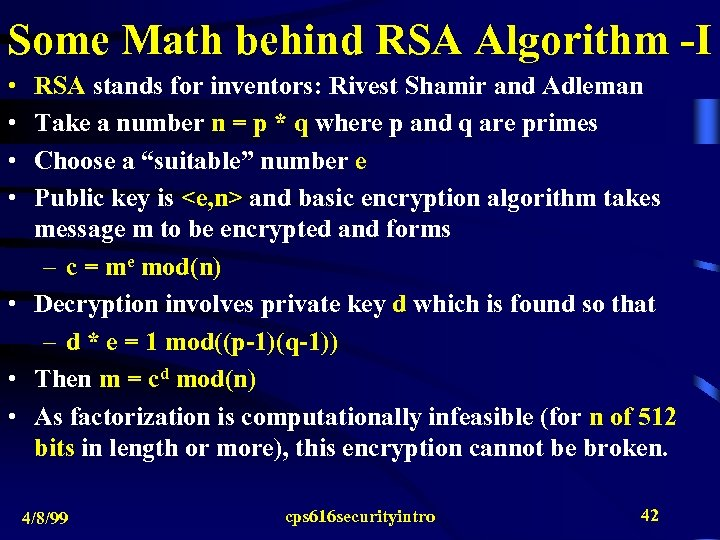 Remarks on Internet Security Issues and Encryption Algorithms