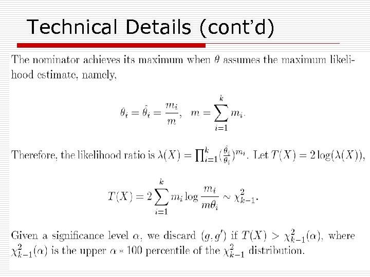 Technical Details (cont'd) 30
