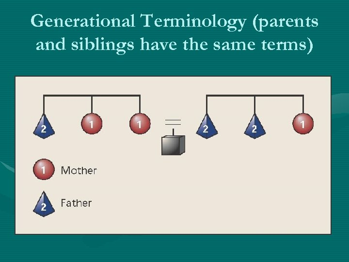 Generational Terminology (parents and siblings have the same terms)