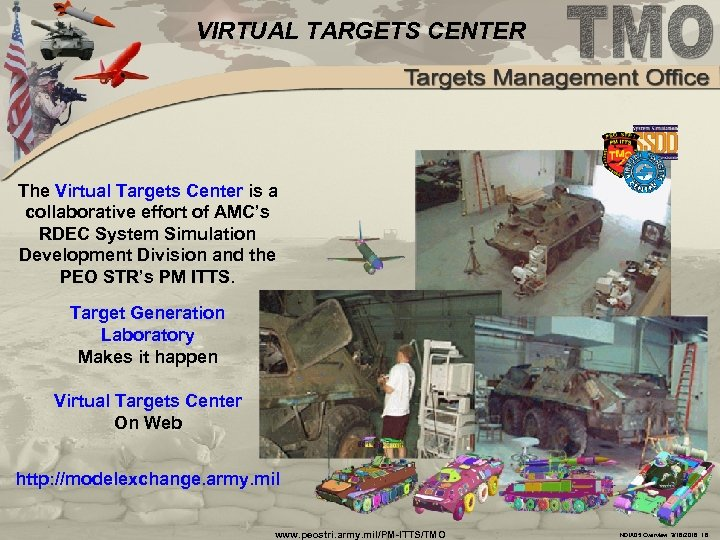 VIRTUAL TARGETS CENTER The Virtual Targets Center is a collaborative effort of AMC's RDEC