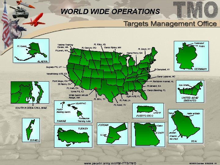 WORLD WIDE OPERATIONS Todendorf Putlos Ft. Riley, KS Yakima Training Center, WA Ft Lewis,