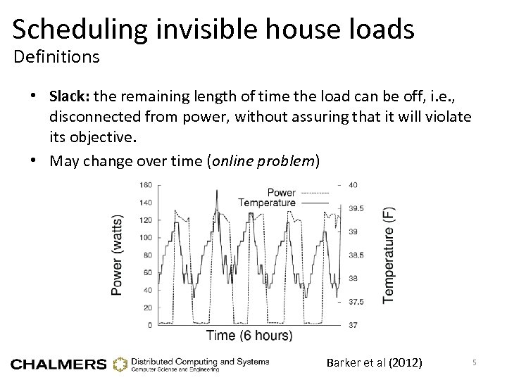 Scheduling invisible house loads Definitions • Slack: the remaining length of time the load