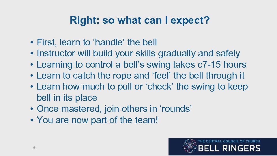 Right: so what can I expect? • • • First, learn to 'handle' the