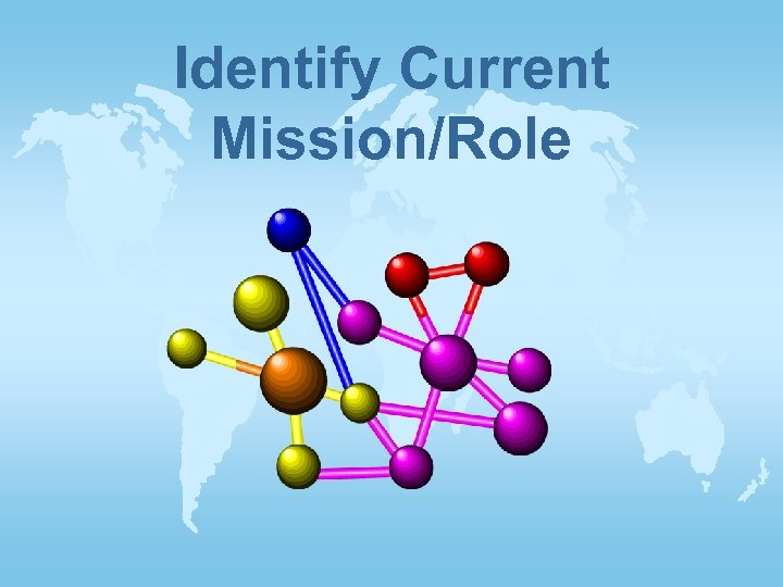 Identify Current Mission/Role