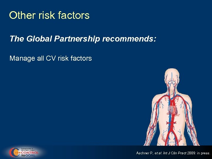 Other risk factors The Global Partnership recommends: Manage all CV risk factors Aschner P,