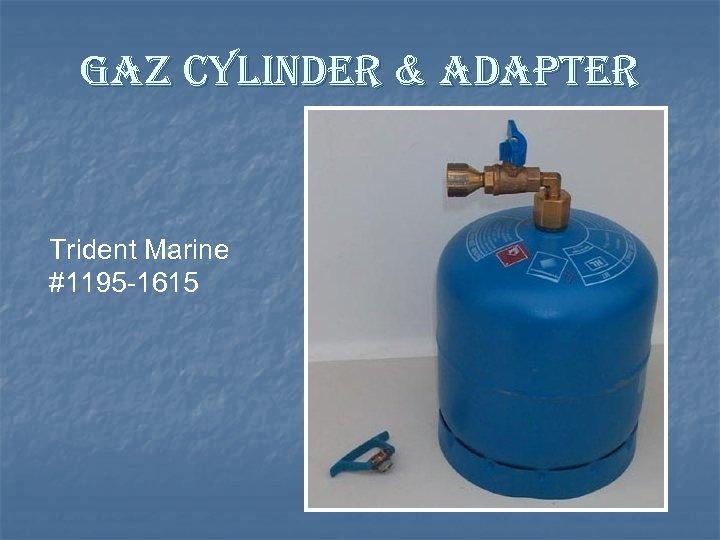 gaz cylinder & adapter Trident Marine #1195 -1615