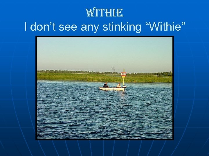 "withie I don't see any stinking ""Withie"""