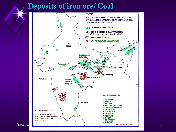 Deposits of iron ore/ Coal 3/18/2018 COREX 2000 9