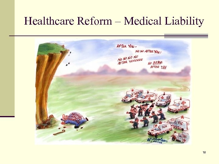 Healthcare Reform – Medical Liability 18