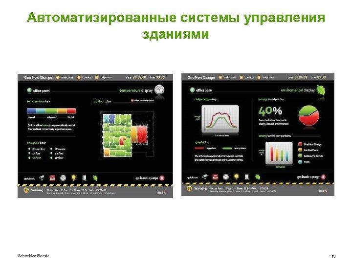 Автоматизированные системы управления зданиями Schneider Electric 13