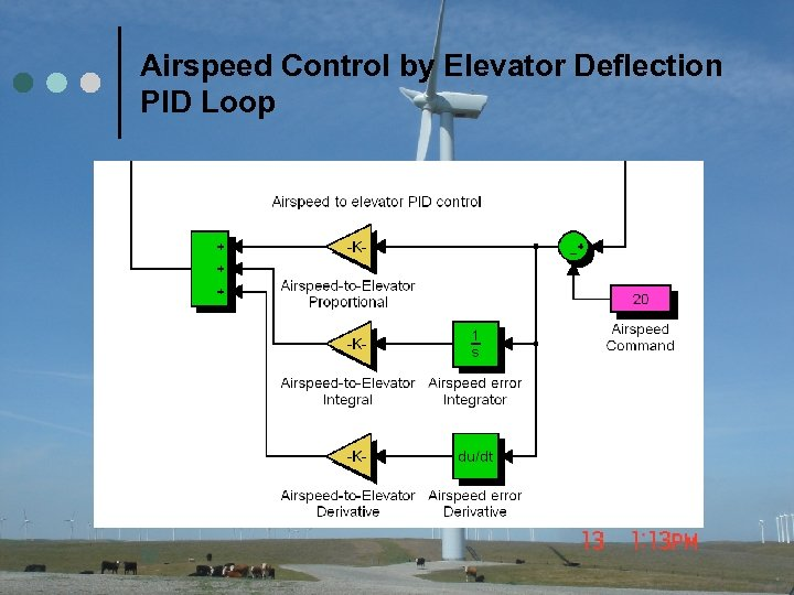 Airspeed Control by Elevator Deflection PID Loop 32