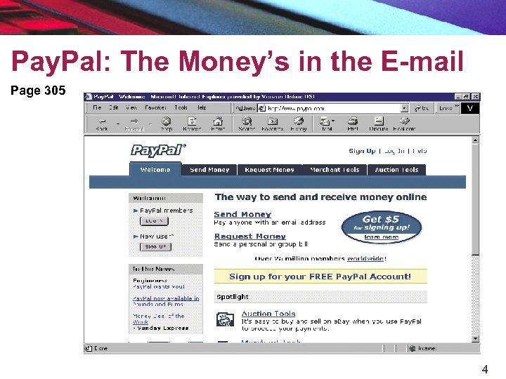 Pay. Pal: The Money's in the E-mail Page 305 4