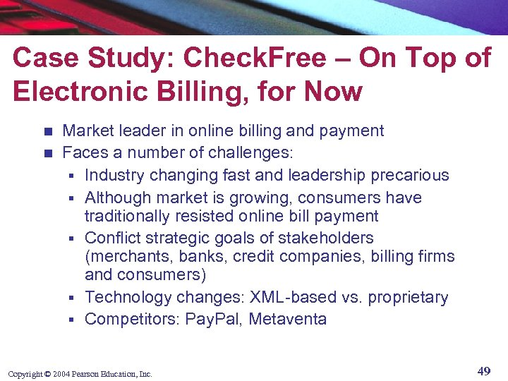 Case Study: Check. Free – On Top of Electronic Billing, for Now Market leader