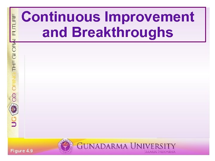 Continuous Improvement and Breakthroughs Figure 4. 9