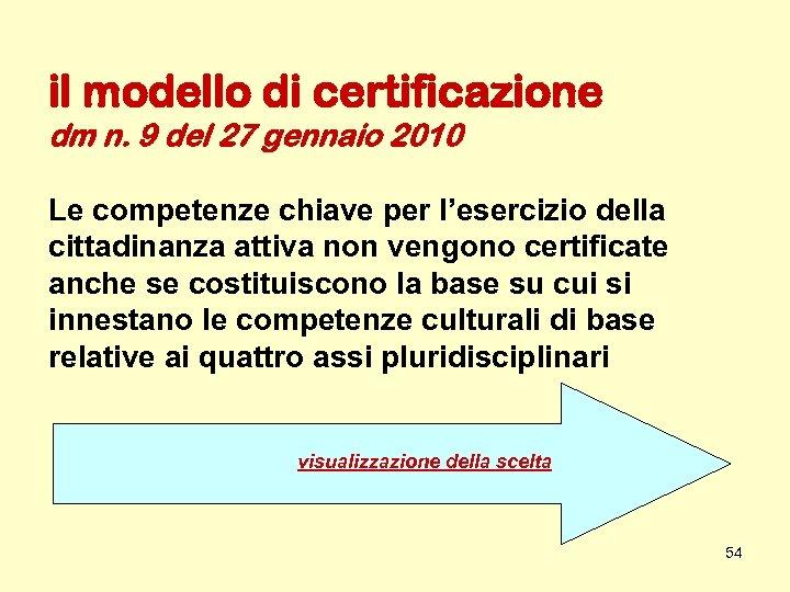 il modello di certificazione dm n. 9 del 27 gennaio 2010 Le competenze chiave