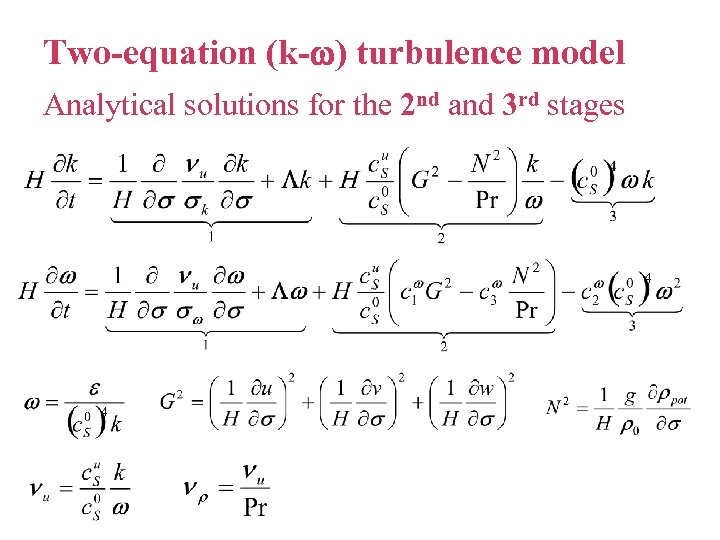 Two-equation (k- ) turbulence model Analytical solutions for the 2 nd and 3 rd