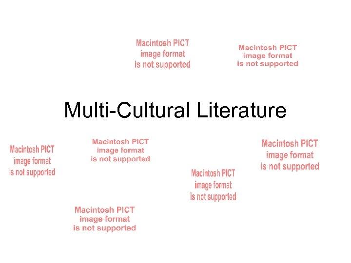 Multi-Cultural Literature