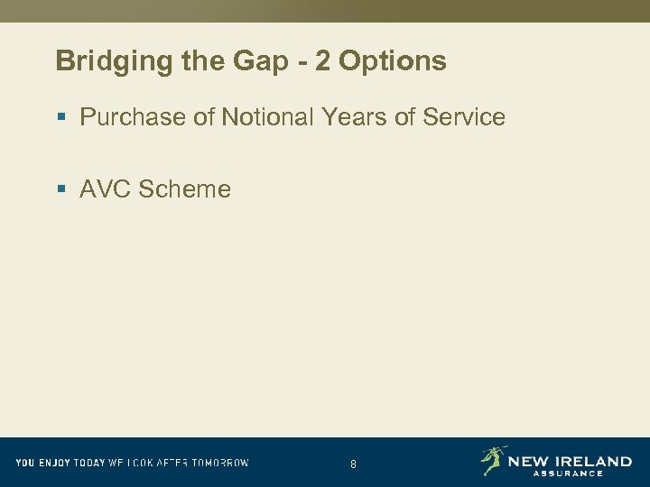 Bridging the Gap - 2 Options § Purchase of Notional Years of Service §