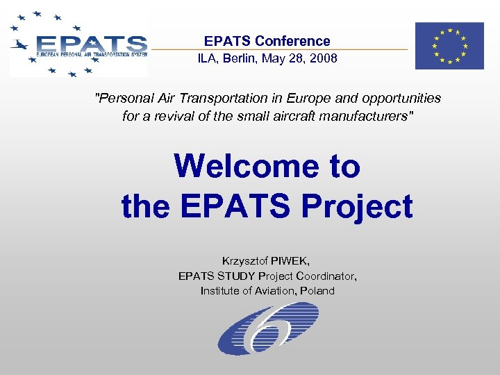 EPATS Conference ILA, Berlin, May 28, 2008