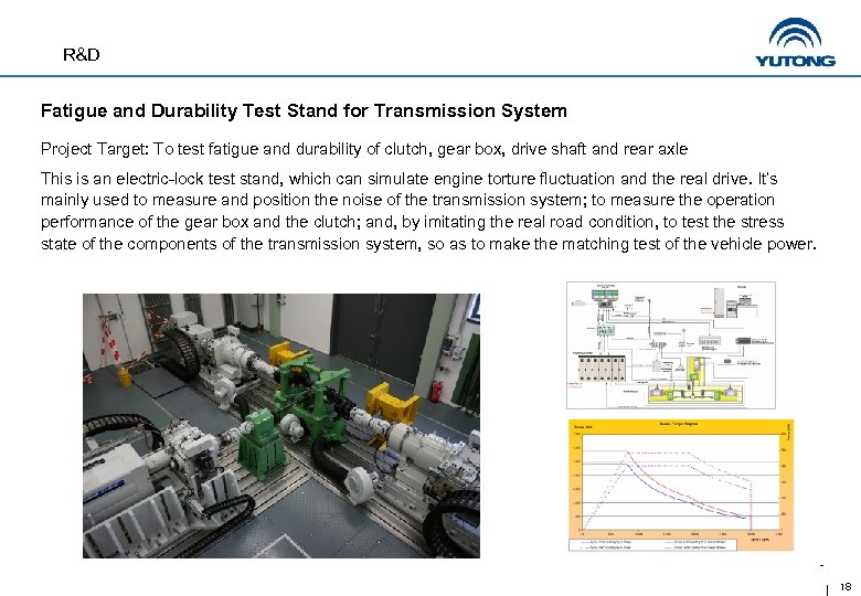 R&D Fatigue and Durability Test Stand for Transmission System Project Target: To test fatigue