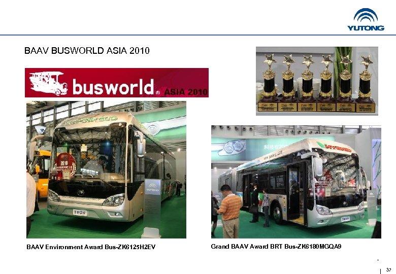 BAAV BUSWORLD ASIA 2010 BAAV Environment Award Bus-ZK 6125 H 2 EV Grand BAAV