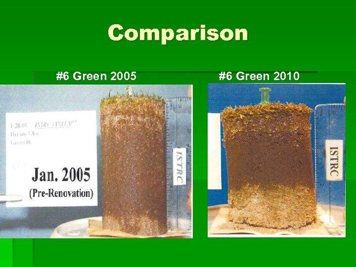 Comparison #6 Green 2005 #6 Green 2010