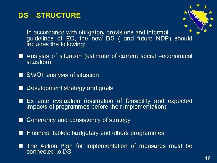 DS – STRUCTURE In accordance with obligatory provisions and informal guidelines of EC, the