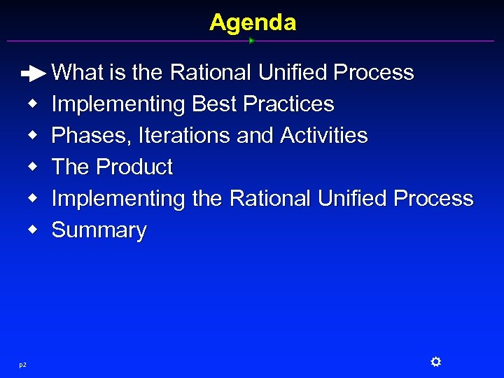 Agenda w w w p 2 What is the Rational Unified Process Implementing Best