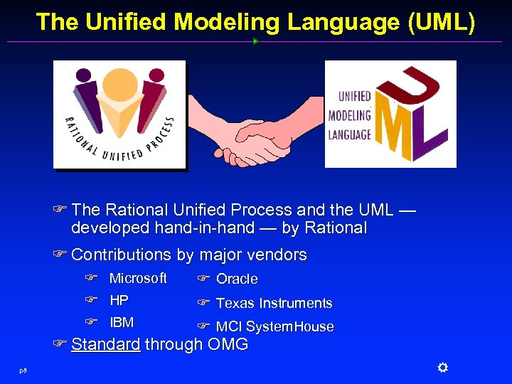 The Unified Modeling Language (UML) F The Rational Unified Process and the UML —