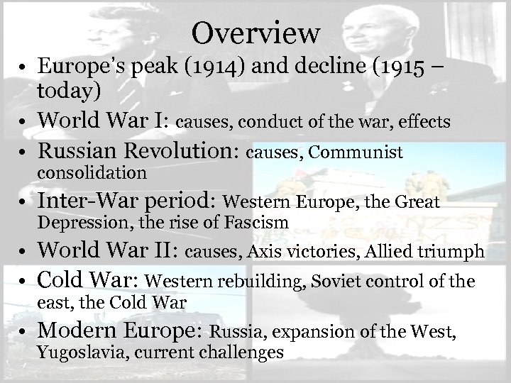 an overview of the causes and effects of world war i World war i furthermore, the effects of the war were not just concentrated to a post-war era lasting for a generation of westerners can be traced to generations after the war it is not a rare occasion that when a person is asked what the causes of world war i were, that they answer with the simple.