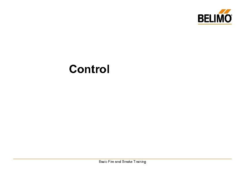 Control Basic Fire and Smoke Training