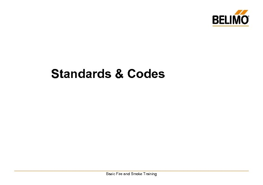 Standards & Codes Basic Fire and Smoke Training