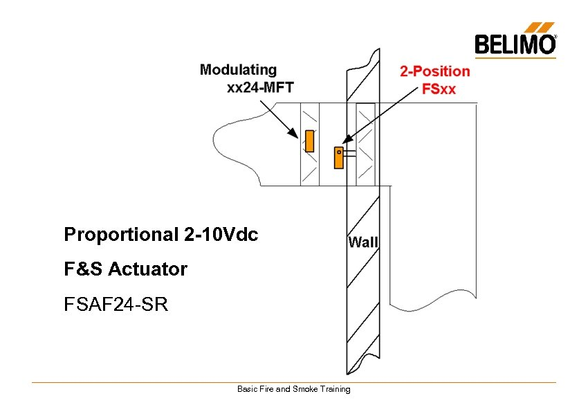 Proportional 2 -10 Vdc F&S Actuator FSAF 24 -SR Basic Fire and Smoke Training