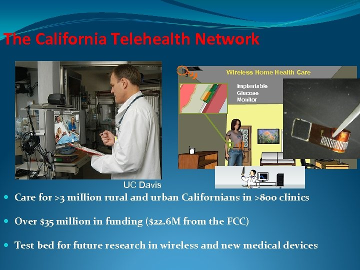 The California Telehealth Network Wireless Home Health Care Implantable Glucose Monitor UC Davis Care