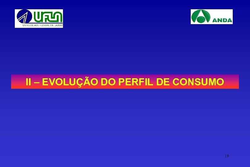 II – EVOLUÇÃO DO PERFIL DE CONSUMO 19